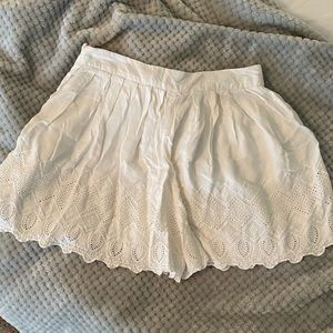 Free People Size 8 White detailed Flowy Skirt